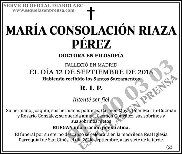 María Consolación Riaza Pérez